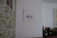 Ausgehängtes Bild im Restaurant