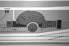 Gleis-Skizze des Lokschuppens