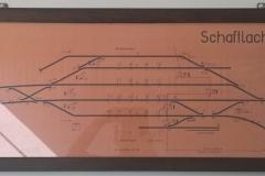 Gleisplan des Bahnhofs Schaftlach