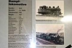 Infotafel zur Dampflokomotive Bayerwald