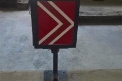 Drehbare Kastenlaterne mit rotem Feld mit Einfahrtfunktion für Einfachweiche