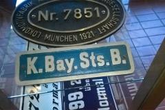 Metallschild der Königlich-Bayerischen Staatsbahnen