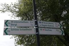 Radwegkreuzung am Alten Schloss